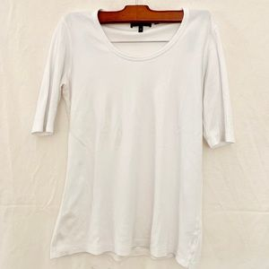 Theory White Mid Sleeve T Shirt Size Small